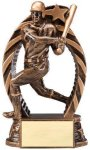 Antique Bronze  and Gold Baseball Male Award Baseball Trophy Awards