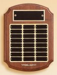 American Walnut Ornate Perpetual Plaque Employee Awards