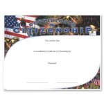 Citizenship Fill in the Blank Certificates
