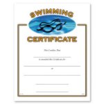 Swimming Fill in the Blank Certificates