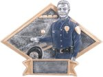 Law Enforcement Diamond Plate Resin  Patriotic Awards