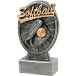 Pinwheel Script Softball Resin Pinwheel Script Resin Trophy Awards